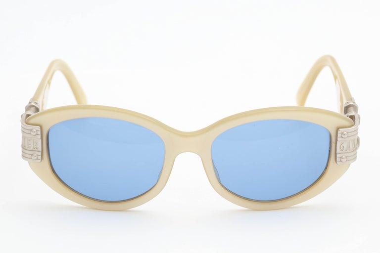Gray Vintage Jean Paul Gaultier 56-5204 Sunglasses For Sale