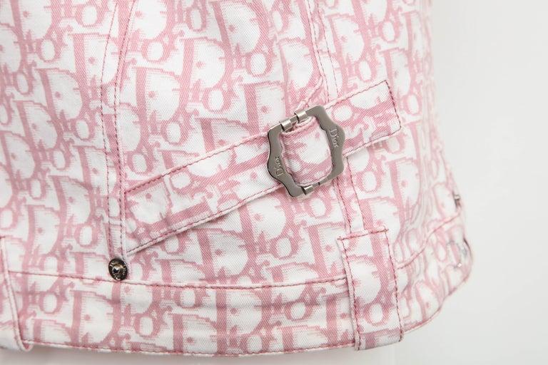 John Galliano for Christian Dior Pink Trotter Logo Denim Jacket 1