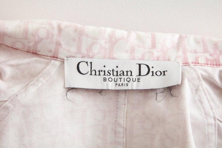 John Galliano for Christian Dior Pink Trotter Logo Denim Jacket 2