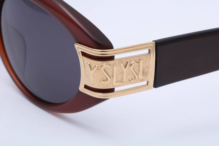Gray Vintage Yves Saint Laurent YSL Sunglasses  For Sale