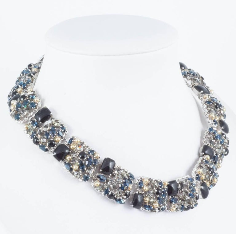 c16fc217ae2de Christian Dior Necklace and earrings in coloured pastes and pearl, 1963