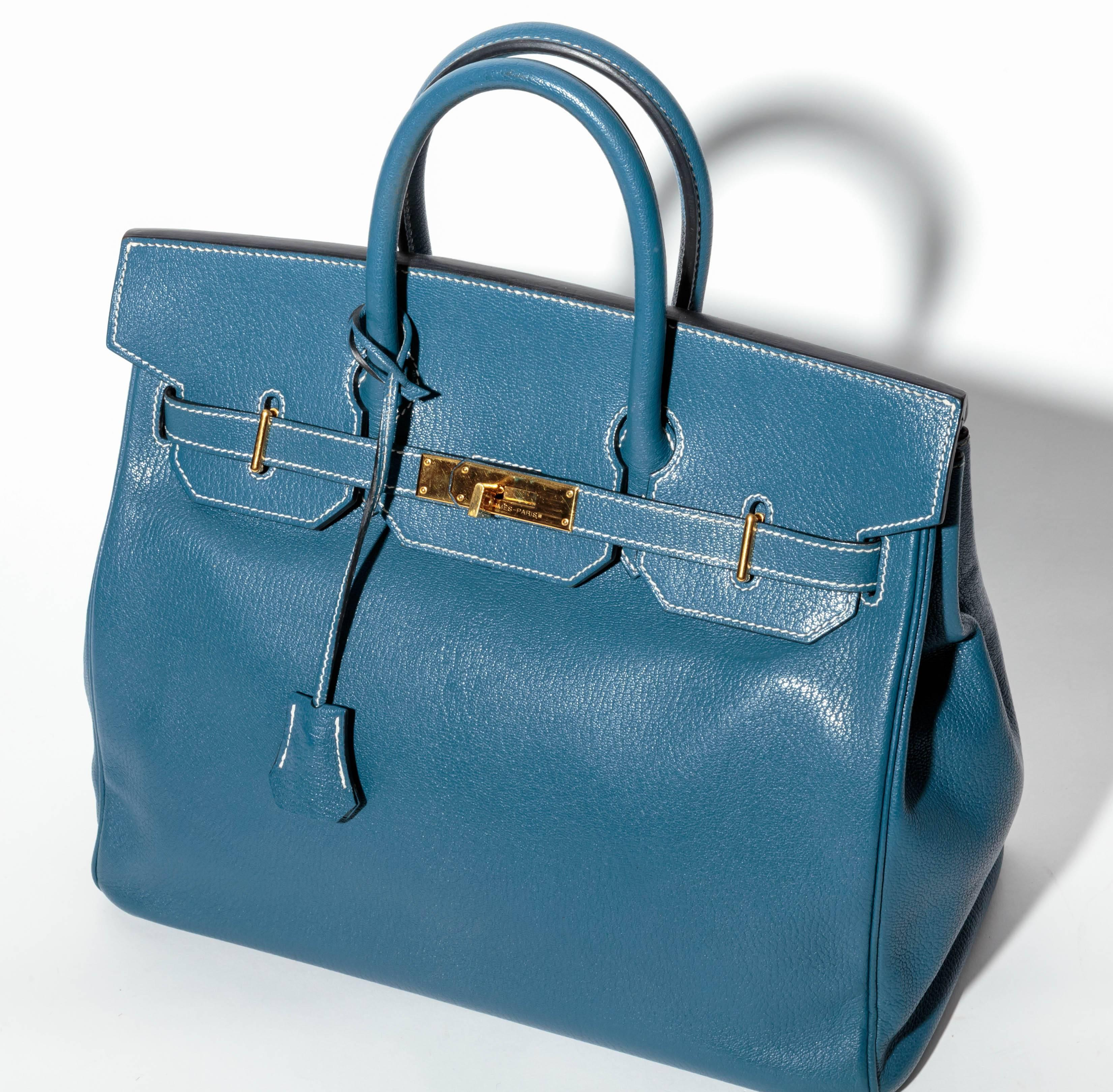 2 fe614 c3fd4  promo code for hermes horseshoe hac birkin in blue thalassa  leather with gold hw for sale 7b4c6bcfaa750