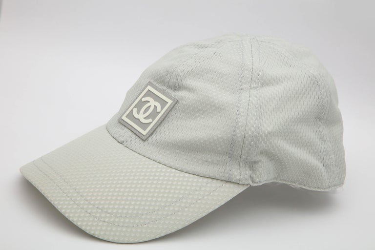 Women's or Men's Chanel Sport Rare Gray Cap with CC Logo For Sale
