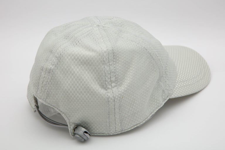 Chanel Sport Rare Gray Cap with CC Logo For Sale 2