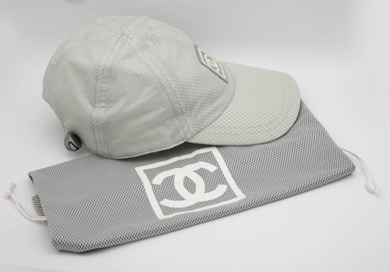 Chanel Sport Rare Gray Cap with CC Logo For Sale 3