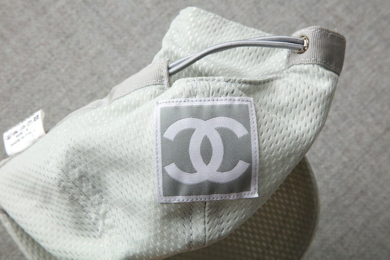 Chanel Sport Rare Gray Cap with CC Logo For Sale 4