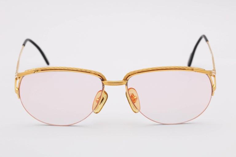 Women's or Men's Vintage Tiffany Gold Sunglasses T318  For Sale