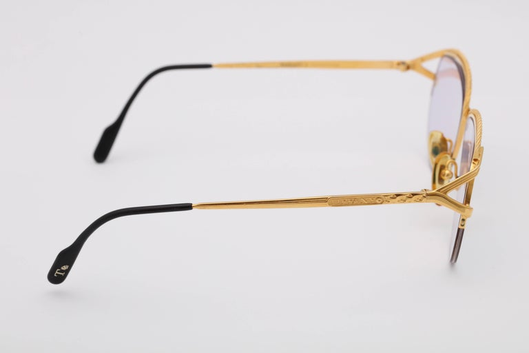 Vintage Tiffany Gold Sunglasses T318  For Sale 1