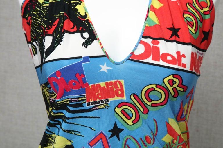 Women's Christian Dior by John Galliano Rasta Print Tank Top T-shirt