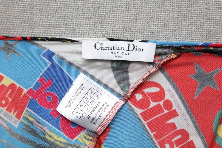 Christian Dior by John Galliano Rasta Print Tank Top T-shirt 2