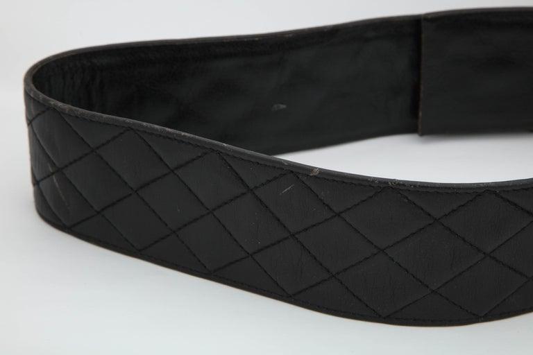 Rare Vintage Chanel Gun Motif Leather Belt For Sale 2