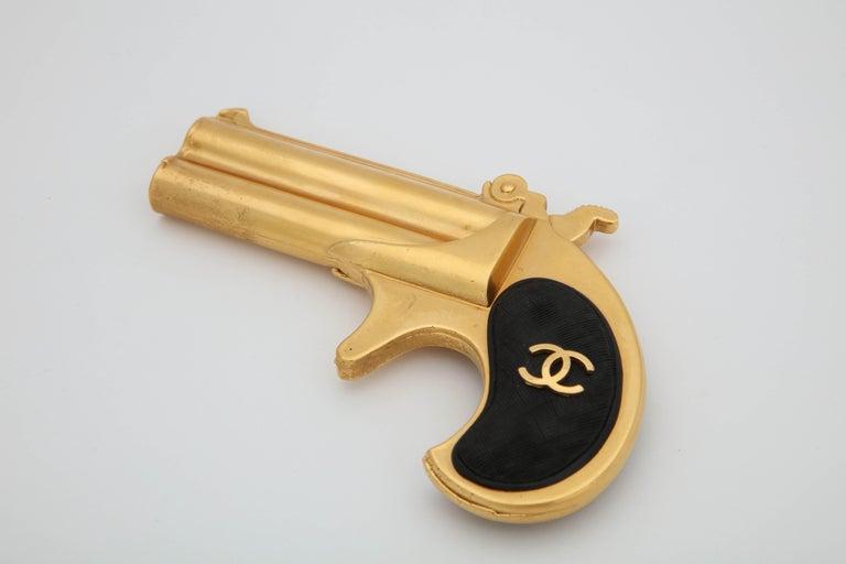 Rare Vintage Chanel Gun Motif Leather Belt For Sale 4