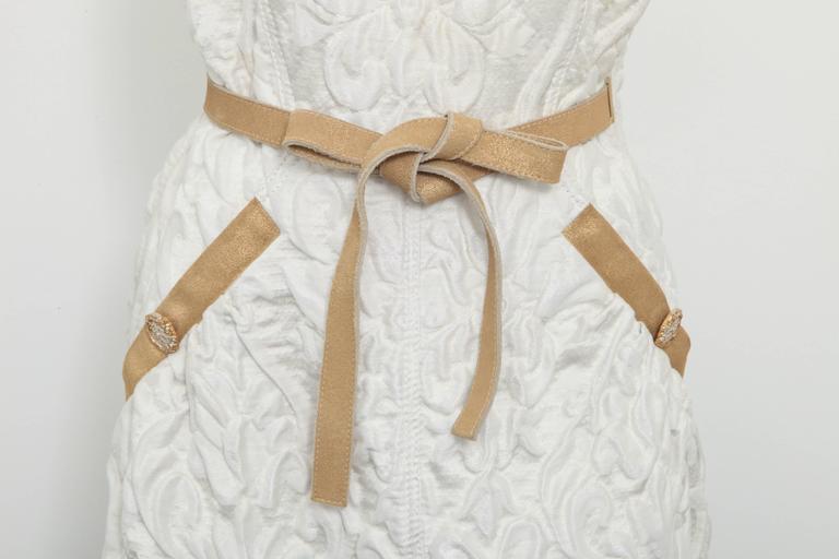 Chanel 13C Runway Brocade Versailles Dress White/Gold 2