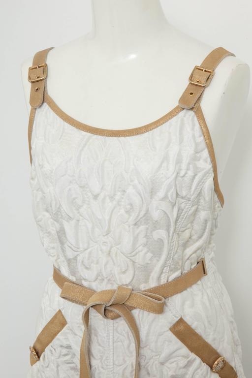 Chanel 13C Runway Brocade Versailles Dress White/Gold 3