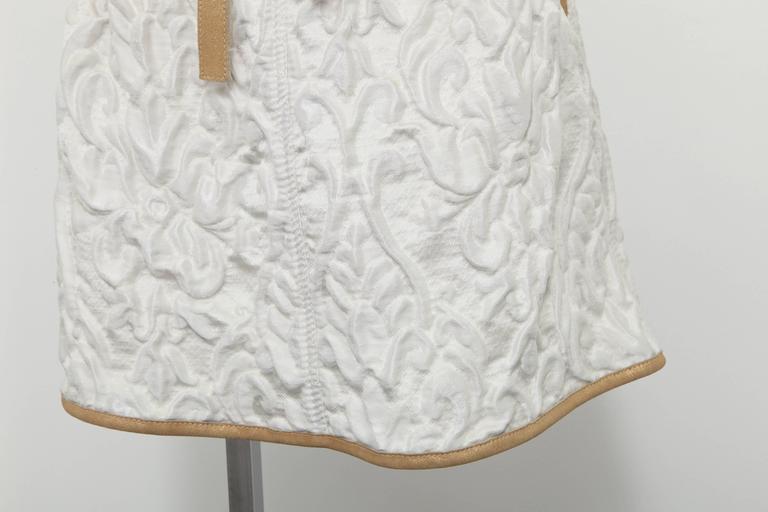 Chanel 13C Runway Brocade Versailles Dress White/Gold 4