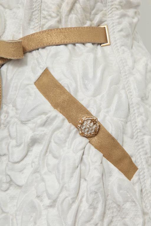 Chanel 13C Runway Brocade Versailles Dress White/Gold 5
