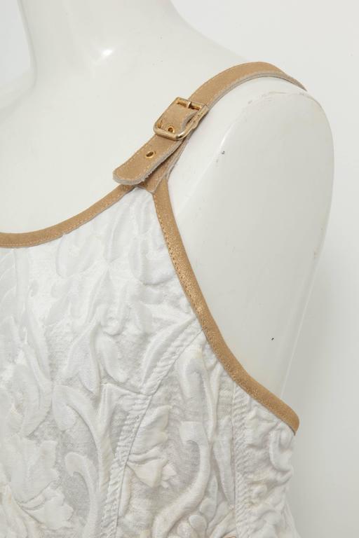 Chanel 13C Runway Brocade Versailles Dress White/Gold 6