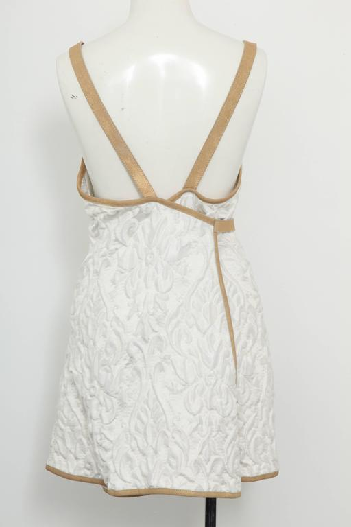 Chanel 13C Runway Brocade Versailles Dress White/Gold 7