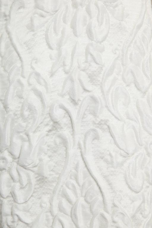 Chanel 13C Runway Brocade Versailles Dress White/Gold 8