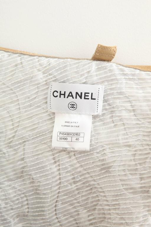 Chanel 13C Runway Brocade Versailles Dress White/Gold 9