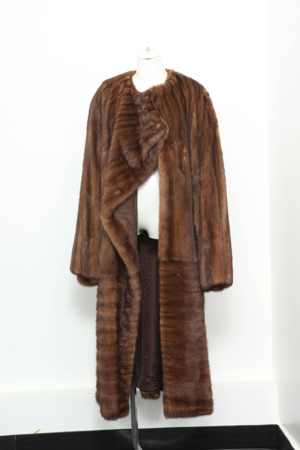 Amazing Gianni Versace Full-Length Mink Coat For Sale at ...