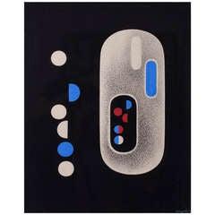 Tempera And Ink Artwork By Richard Filipowski, 1948