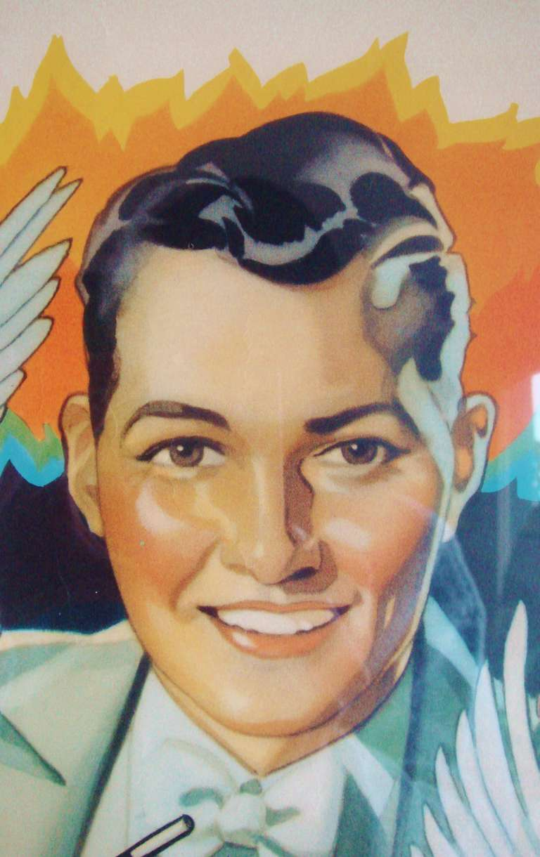 Art Deco Beautiful American Original Lithographic Generic Magic Show Poster For Sale