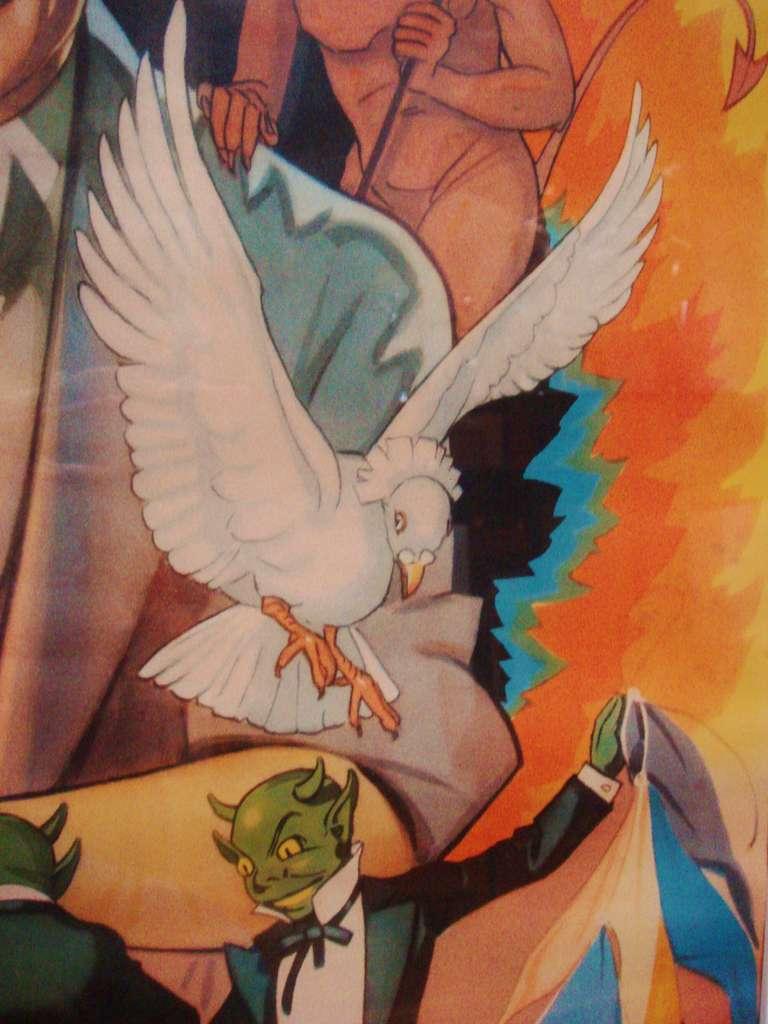 Burl Beautiful American Original Lithographic Generic Magic Show Poster For Sale