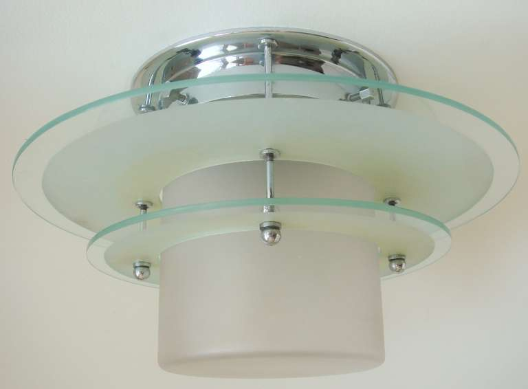 Spectacular High End English Art Deco Flush Mounted Ceiling Light ...