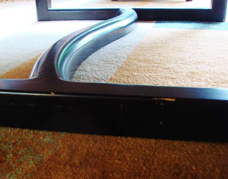 Large Rare Canadian Mid-Century Biomorphic, Triple Stepped Coffee Table For Sale 1