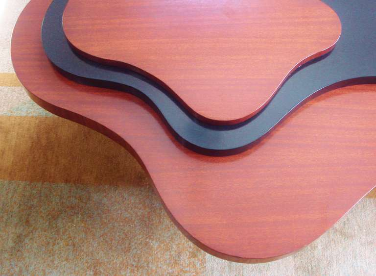 Mid-Century Modern Large Rare Canadian Mid-Century Biomorphic, Triple Stepped Coffee Table For Sale