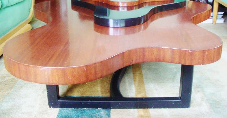 Large Rare Canadian Mid-Century Biomorphic, Triple Stepped Coffee Table In Good Condition For Sale In Port Hope, ON
