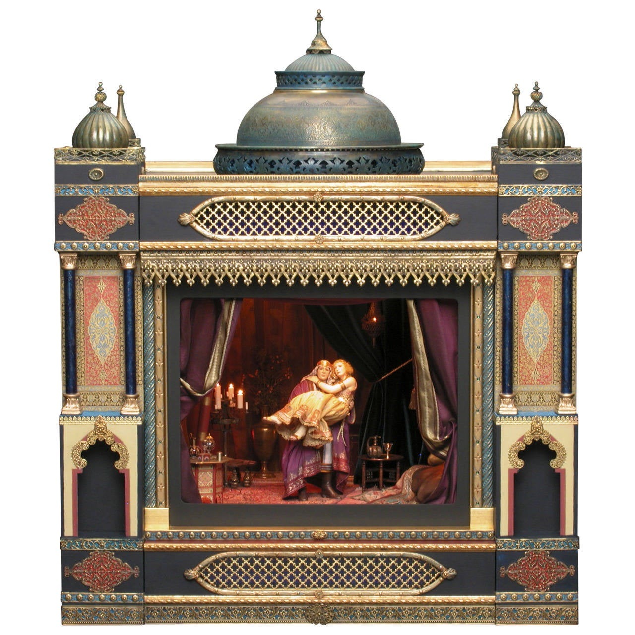 "Stunning Miniature ""The Alhambra Cinema"" with Valentino as the Son of the Sheik"