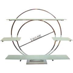 American Art Deco Chrome & Glass Jewellery Store Display Shelf for Swank Inc.