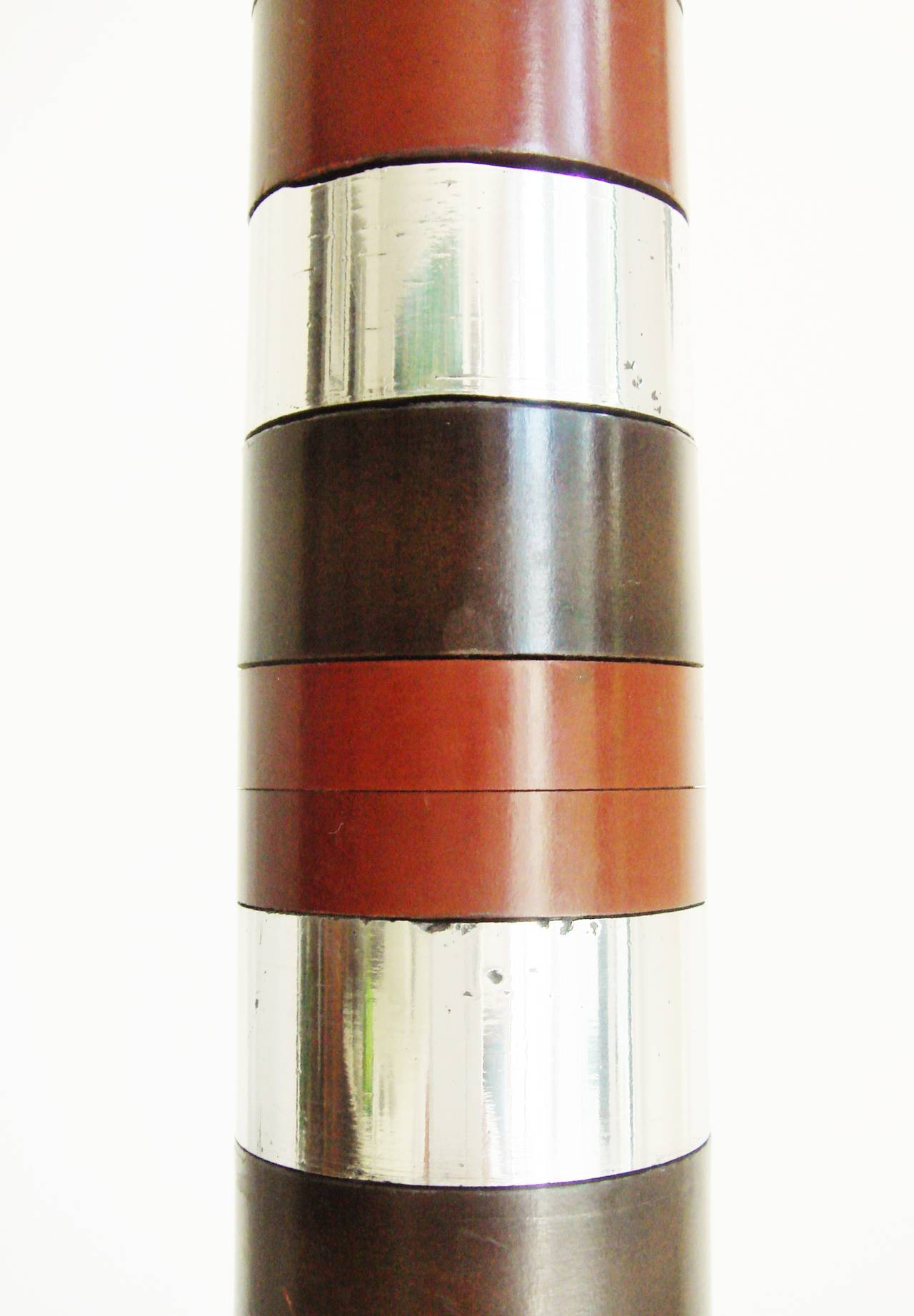 Ultimate American Bakelite, Chrome, Copper, Aluminium and Brass Trench Art Lamp In Good Condition For Sale In Port Hope, ON