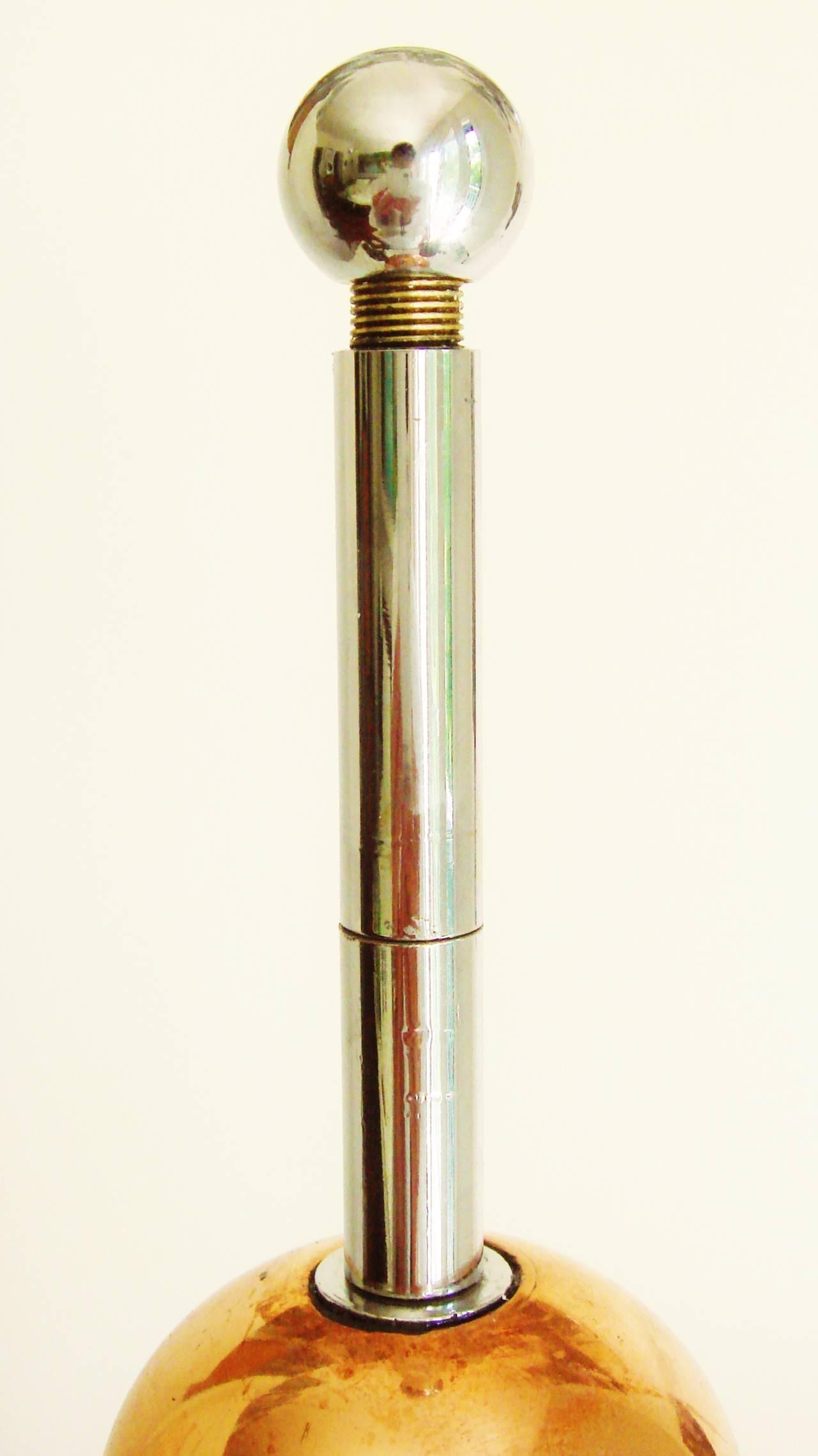 Outsider Art Ultimate American Bakelite, Chrome, Copper, Aluminium and Brass Trench Art Lamp For Sale