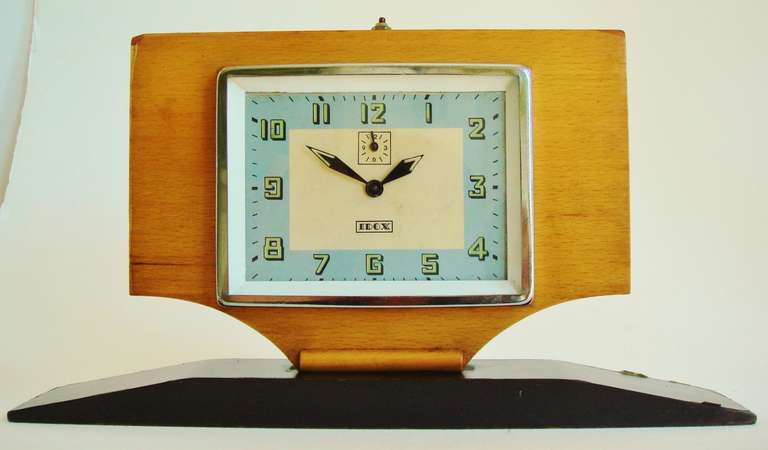 Israeli Extreme Art Deco Large Alarm Clock by IDOX For Sale at 1stdibs