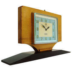 Israeli Extreme Art Deco Large Alarm Clock by IDOX