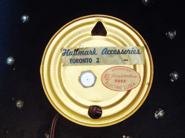 Canadian Mid Century Modern Spherical Electric Wall Clock