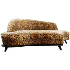 American Mid-Century Modern Extreme Biomorphic Chaise Longue