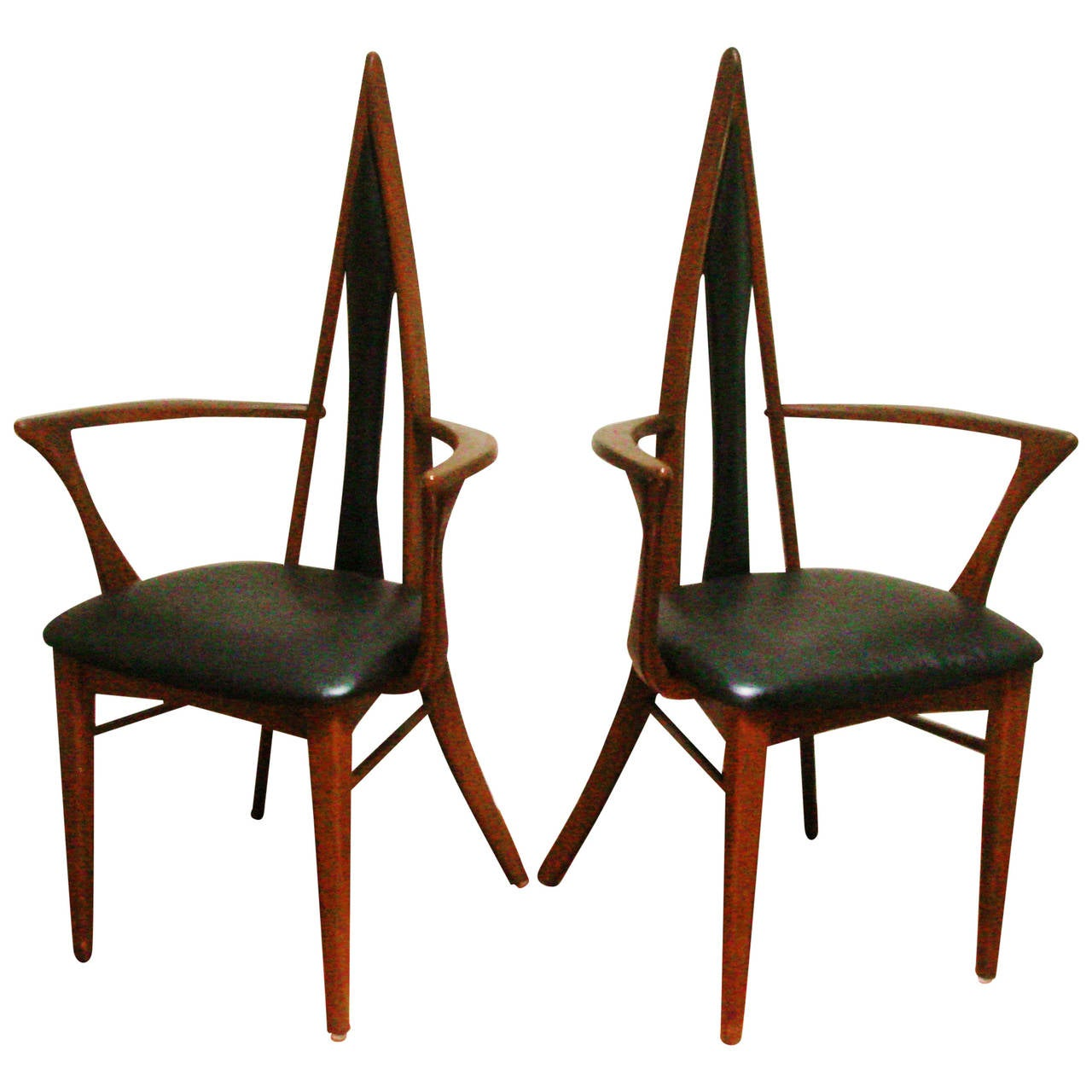 Pair of canadian mid century biomorphic salon chairs by for Salon furniture canada