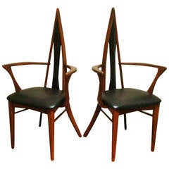 Pair of Canadian Mid Century Biomorphic Salon Chairs by Danis et Frères