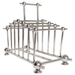 English Aesthetic Movement, Silver Plated Toast or Letter Rack