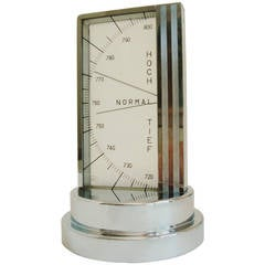 High Quality German Art Deco Chrome Plated Aneroid Desk Barometer by Zeiss Ikon.