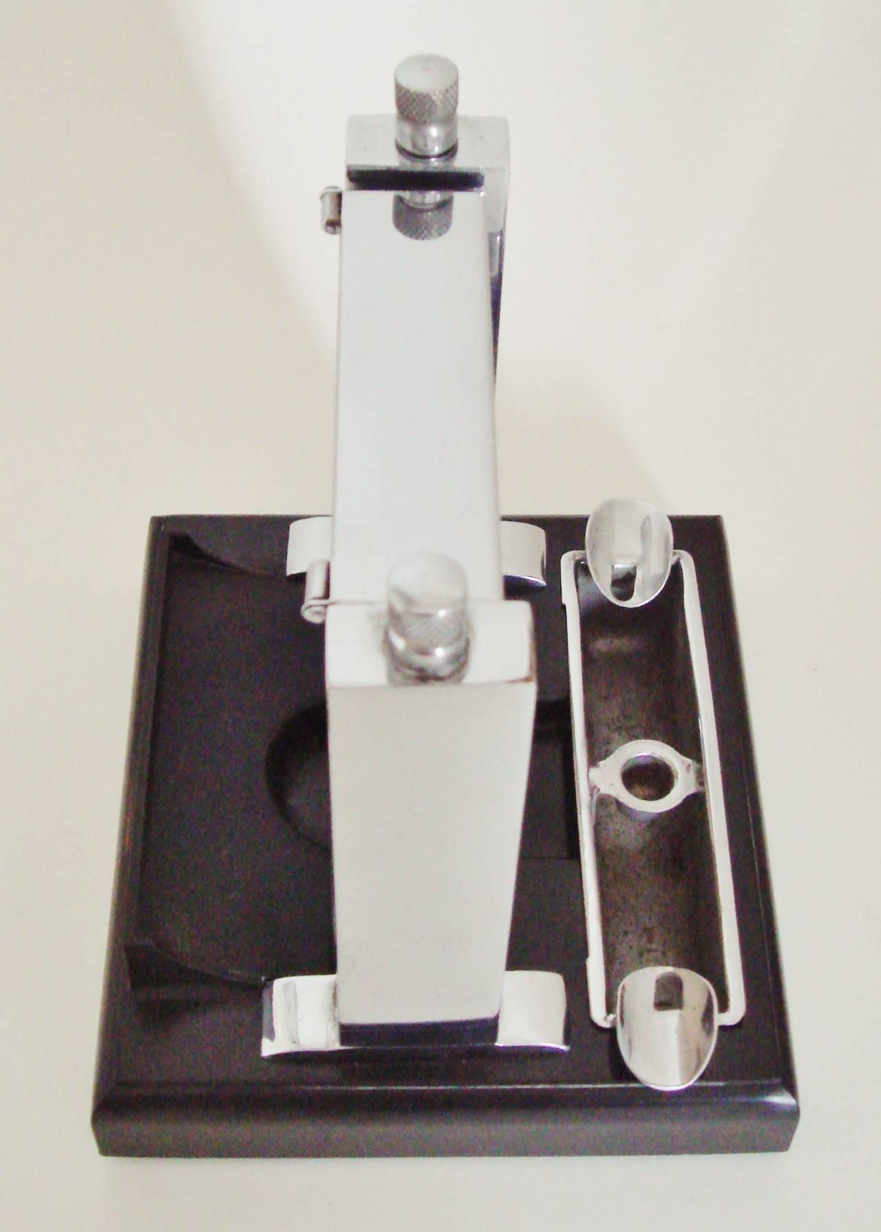 Art Deco Perpetual Calendar, Cigarette Dispenser, Striker Lighter and Ashtray 7