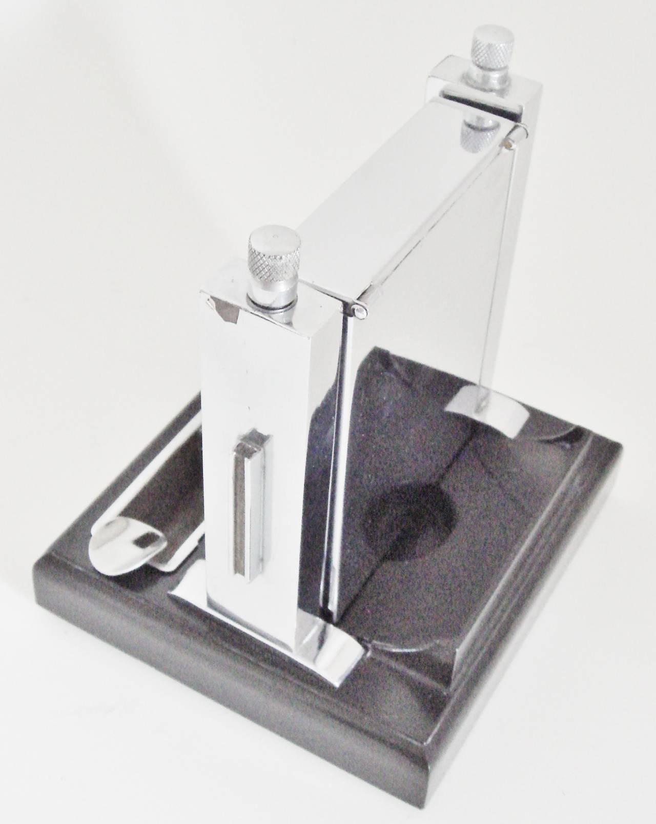 Art Deco Perpetual Calendar, Cigarette Dispenser, Striker Lighter and Ashtray 6