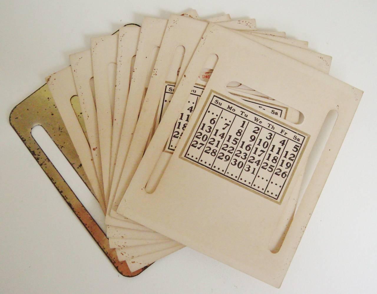 Art Deco Perpetual Calendar, Cigarette Dispenser, Striker Lighter and Ashtray 5