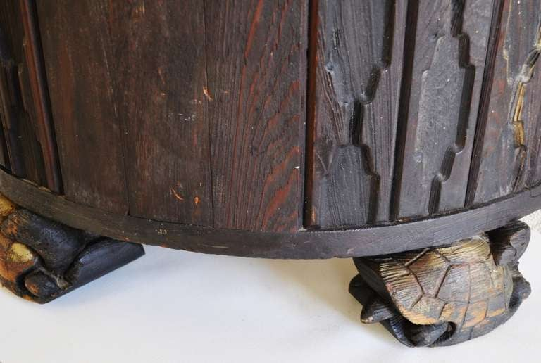 Wood Art Deco Plinth in the Mayan Revival Style from The Fisher Theater, Detroit For Sale