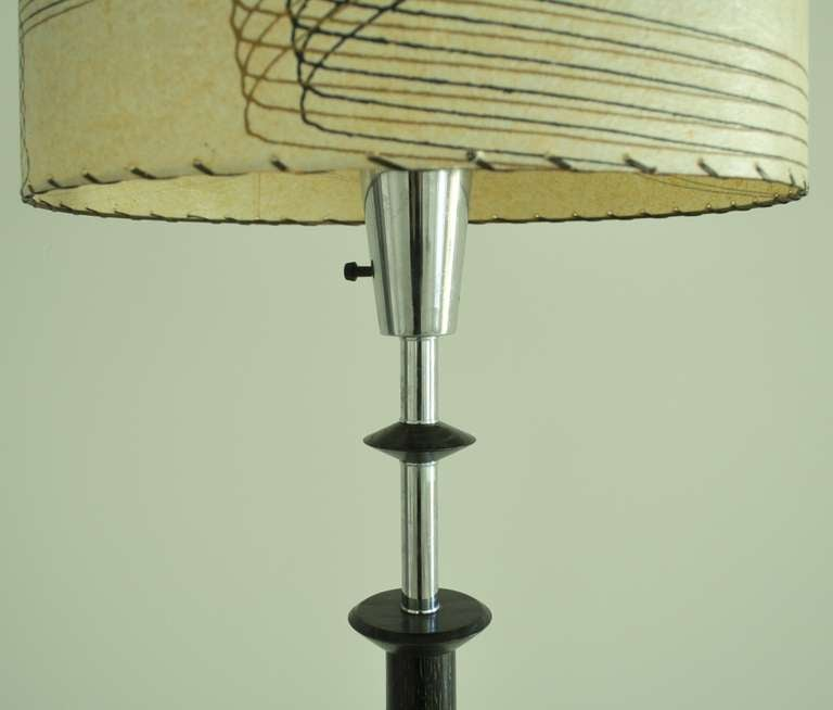 Mid-20th Century American Mid-Century Modern Majestic Floor Lamp with Integral Glass Table For Sale