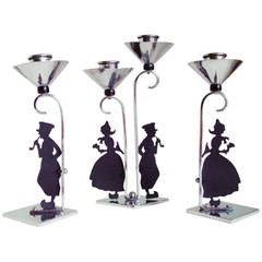 Set of Three Candleholders in the Style of Lotte Reiniger